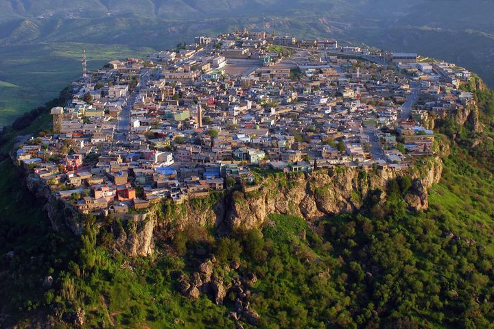 The hilltop city of Amedy, located in Iraq's autonomous Kurdistan region, has absorbed an upswell of refugees due to vio
