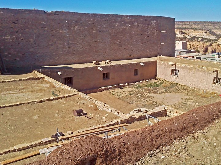 TheSan Esteban del Rey mission, located in the U.S. state of New Mexico, was built in the 17th century and is falling i