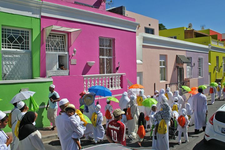 Bo-Kaap is a town in South Africarecognized for its distinctive architecture and its enduring Muslim culture, but it's