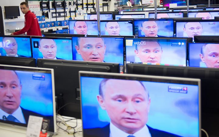 The Russian government holds heavy influence over the country's media landscape.