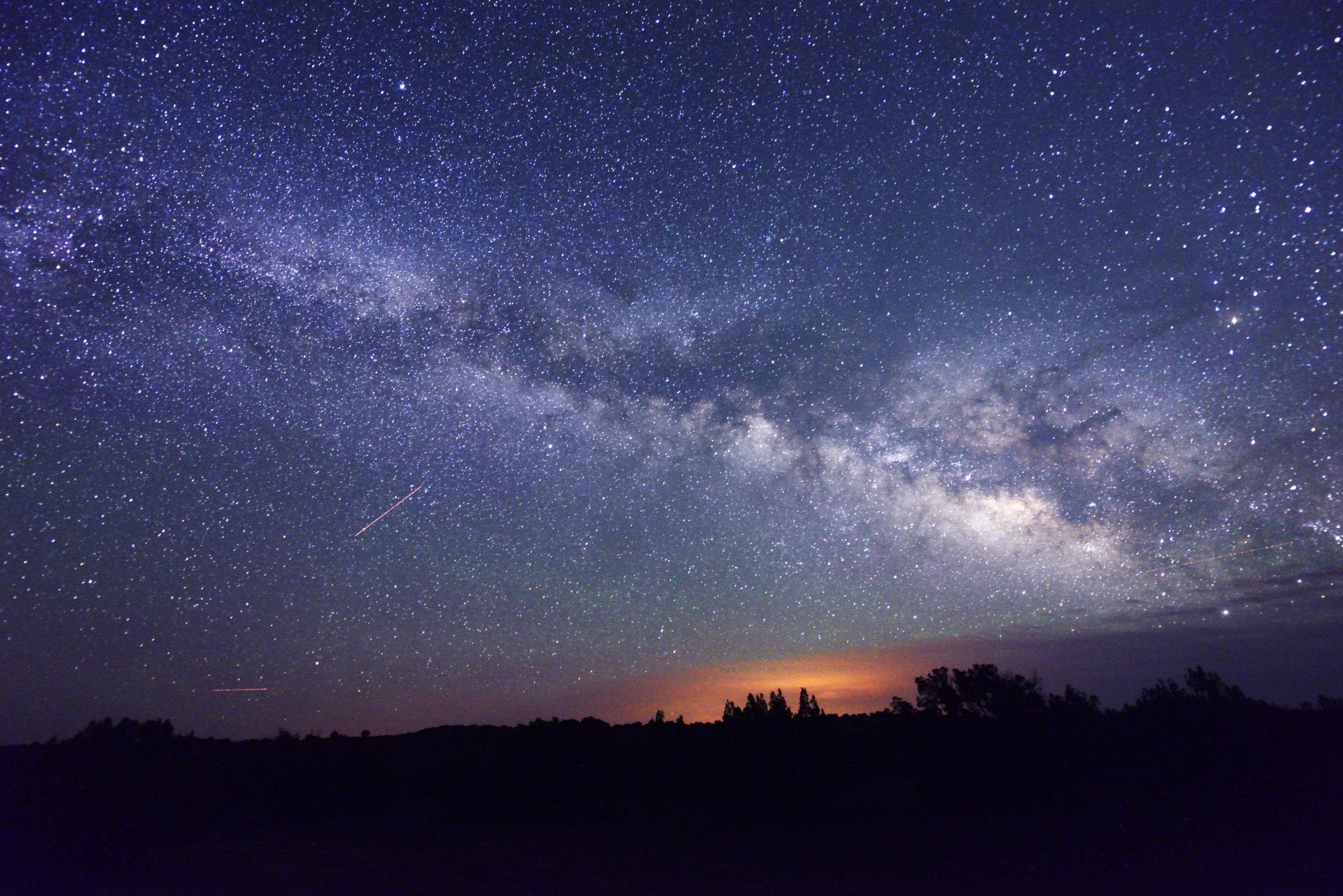 USA, Arizona, Sunset Crater National Monument, Night Sky