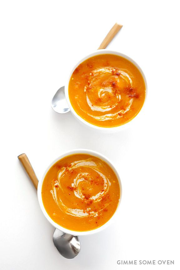 "<strong>Get the <a href=""http://www.gimmesomeoven.com/slow-cooker-butternut-squash-soup-recipe/"" target=""_blank"">Slow Cooker"