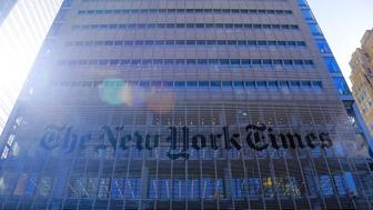 New York Times Building on 8th in New York
