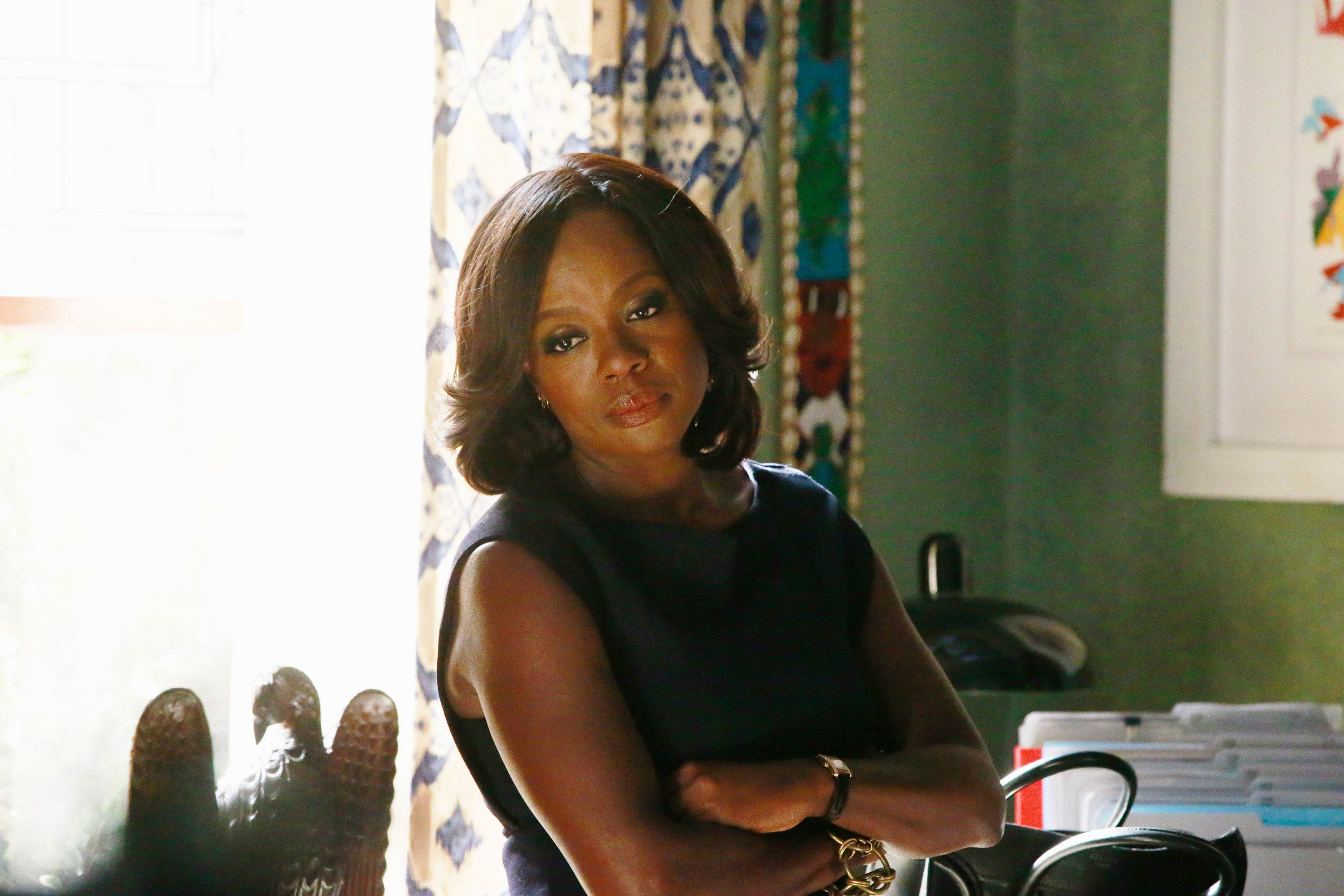 HOW TO GET AWAY WITH MURDER - 'Skanks Get Shanked' - When a teenager is found murdered in the woods, Annalise and her team is hired to represent an unlikely suspect named in the case. Meanwhile, Asher comes across a shocking confession, and Wes learns new information about Rebecca's disappearance, on 'How to Get Away with Murder,' THURSDAY OCTOBER 15 (10:00-11:00 p.m., ET) on the ABC Television Network. (Photo by Mitchell Haaseth/ABC via Getty Images)