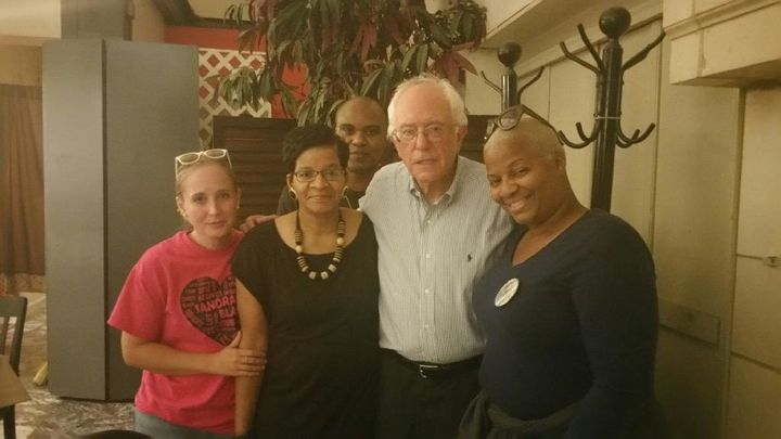 The family of Sandra Bland met with Bernie Sanders on Oct. 13, 2015.
