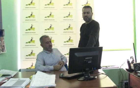 Galán and Abdul Mohsen in the Cenafe office.