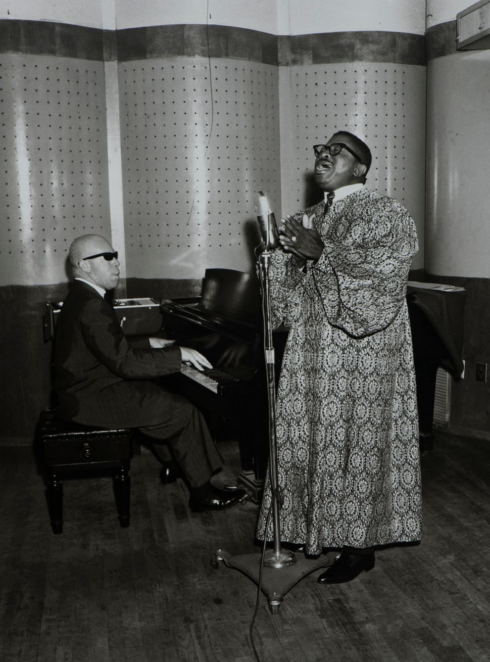 Benny Joseph,<i> The Reverend Cleophus Robinson, Peacock Recording Studios, </i>Houston, ca. 1956.&nbsp;&copy; Benny Joseph.