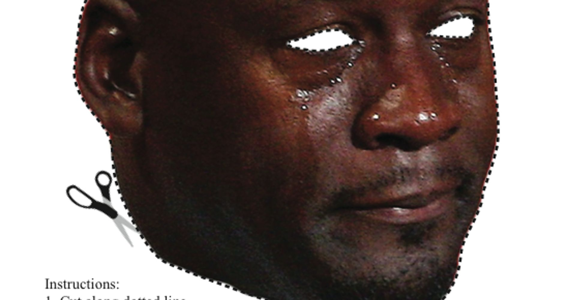 Here's A Cutout 'Michael Jordan Crying Face' Halloween Mask For ...