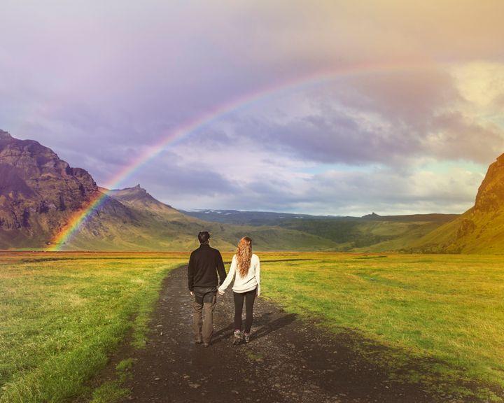 A field in Iceland.