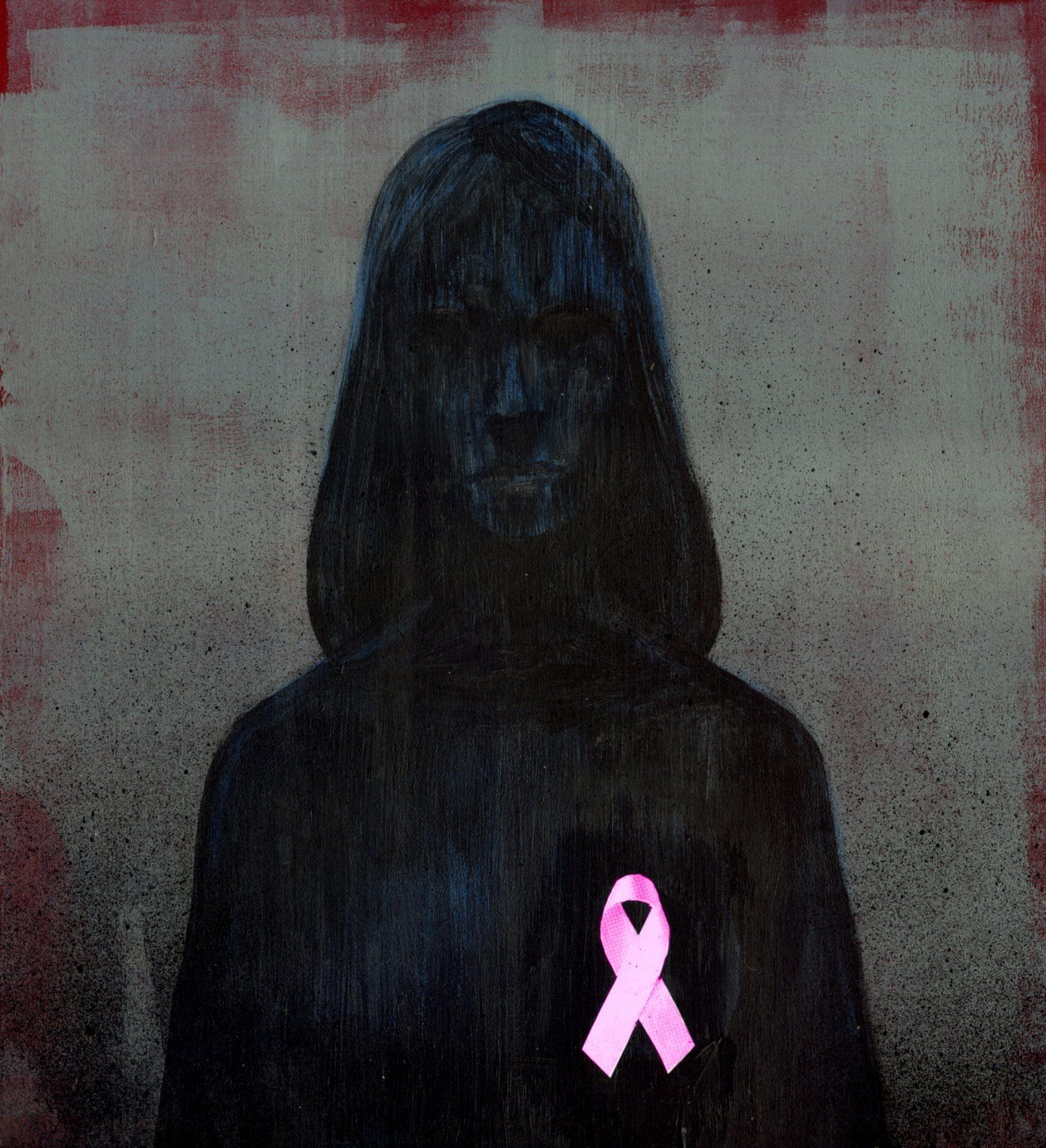 Representation of breast cancer awareness ribbon