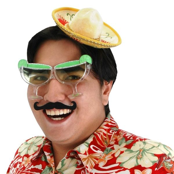 "Let's reduce a rich and vibrant culture to mustaches, margaritas, sombreros and... Hawaiian shirts? Oh well, it's red and ""sp"