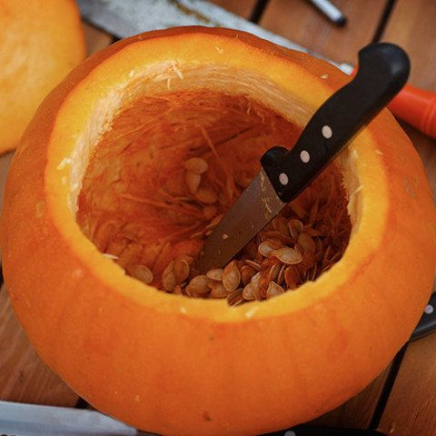 You don't need fancy tools to carve something special: Reckner's standby is a plain old paring knife.