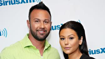NEW YORK, NY - MAY 30:  TV personalities Roger Mathews and Jenni 'JWoww' Farley visit the SiriusXM Studios on May 30, 2014 in New York City.  (Photo by Cindy Ord/Getty Images)
