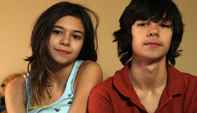 Nicole and Jonas Maines, photographed when they were 14.