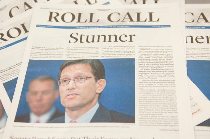 The June 11, 2014, edition of the Roll Call newspaper.