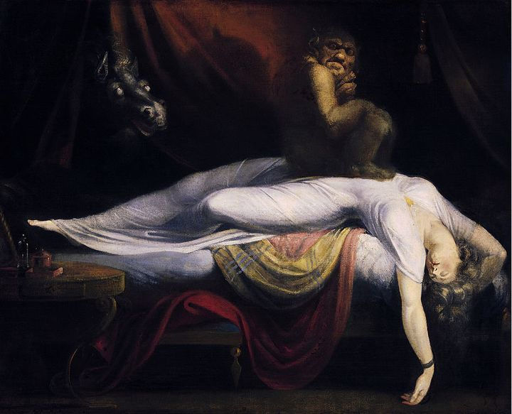 "<a href=""https://commons.wikimedia.org/wiki/File:John_Henry_Fuseli_-_The_Nightmare.JPG"">Henry Fuseli, ""The Nightmare,""&nbsp;1"