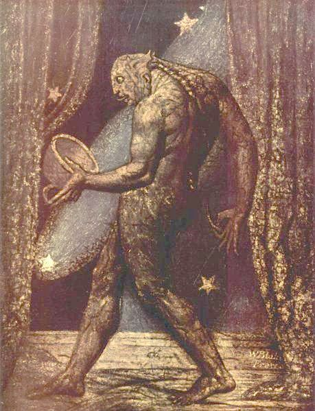 "<a href=""https://commons.wikimedia.org/wiki/File:William_Blake_002.jpg"">William Blake, ""The Ghost of a Flea,""&nbsp;1819-1820<"