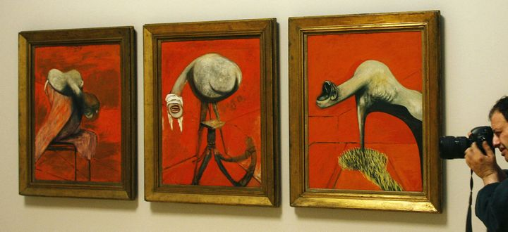 "Francis Bacon, ""Three studies for a Self-Portrait,"" 1944"