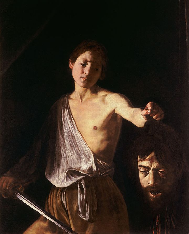 "<a href=""https://commons.wikimedia.org/wiki/File:Caravaggio_-_David_con_la_testa_di_Golia.jpg"">Caravaggio, ""David with the he"