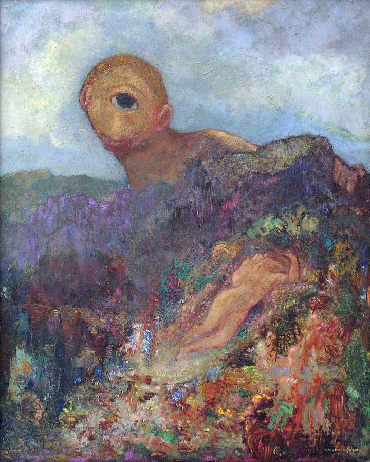 "<a href=""https://en.wikipedia.org/wiki/File:1914_Redon_Zyklop_anagoria.JPG"">Odilon Redon, ""The Cyclops,""&nbsp;1898-1900</a>"
