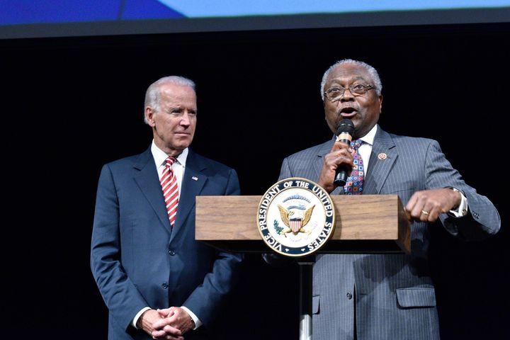 Rep.James Clyburn, right, has suggestedVice President Joe Biden not run for president.