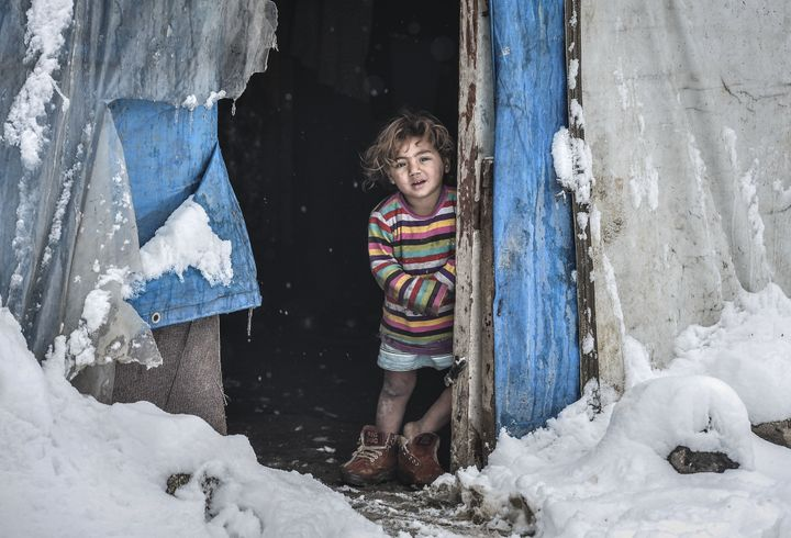 Many Syrians have died from exposure to the cold in refugee camps in the Middle East.