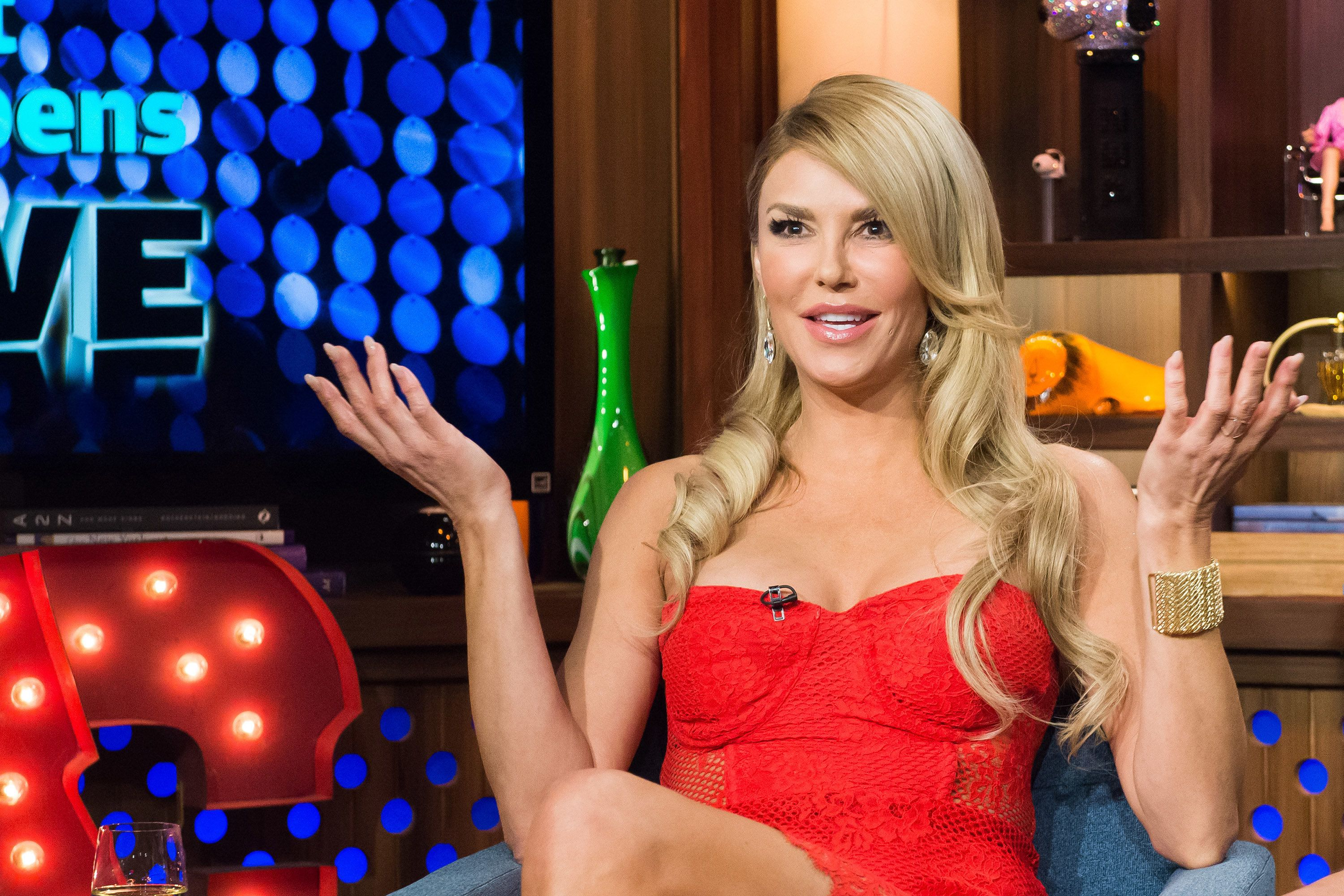 WATCH WHAT HAPPENS LIVE -- Pictured: Brandi Glanville -- (Photo by: Charles Sykes/Bravo/NBCU Photo Bank via Getty Images)