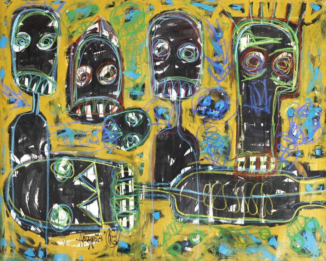 Untitled (2014), Aboudia Abdoulaye Diarrassouba