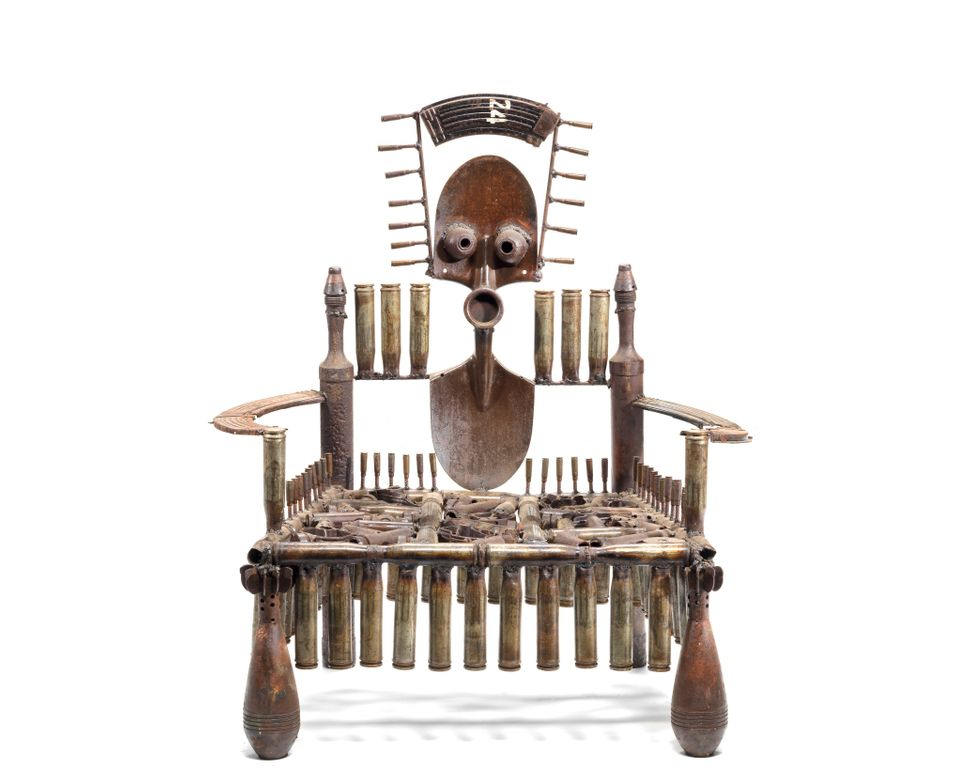 """Weapon Throne,"" Gonçalo Mabunda"