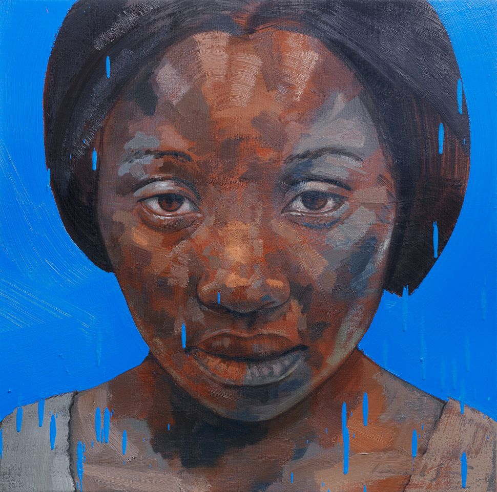 """Girl with Blue"" (2013), Lionel Smit"
