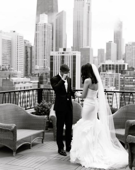 """My favorite first look of all time. Kayla and Ryan, you take my breath away."" - Emilia Jane"