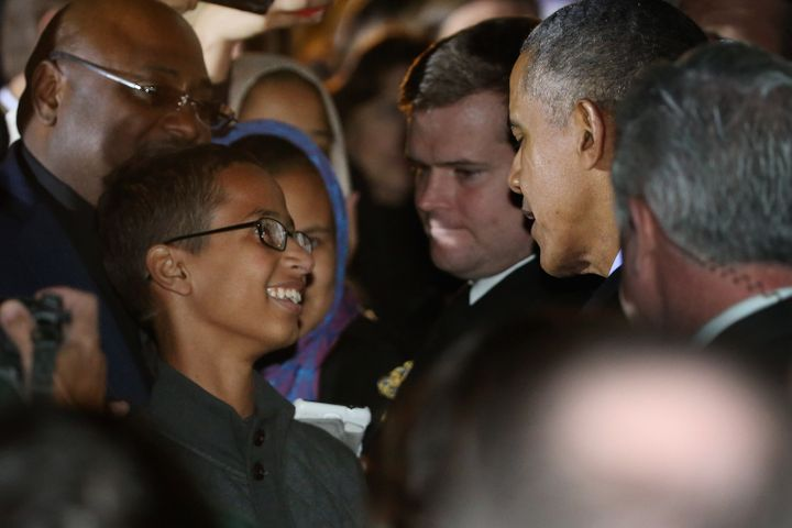 Ahmed Mohamed and President Barack Obama met during White House Astronomy Night.