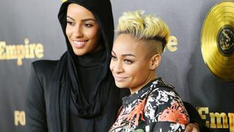 HOLLYWOOD, CA - JANUARY 06:  AzMarie Livingston (L) and Raven Symone arrive at the Los Angeles premiere of 'Empire' held at ArcLight Cinemas Cinerama Dome on January 6, 2015 in Hollywood, California.  (Photo by Michael Tran/FilmMagic)