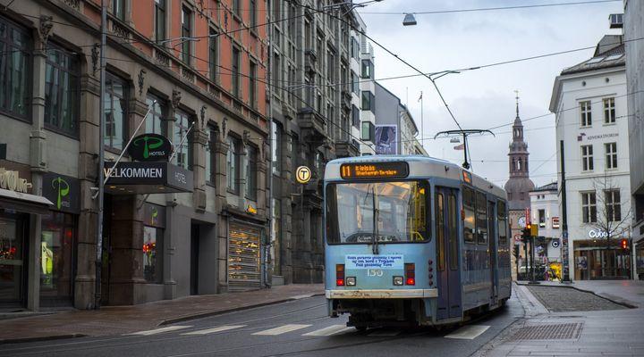 A tram in Oslo.