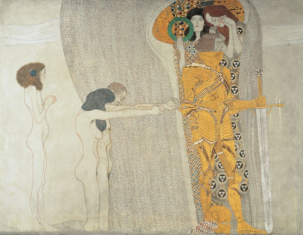 Beethofen Frieze. Cutout with figural compositions. By Gustav Klimt. 1902.
