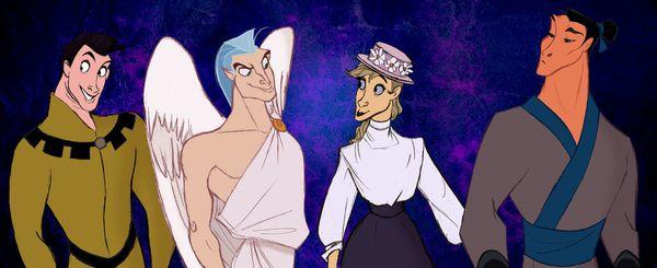 Samson, Pegasus, Frou-Frou, and Khan