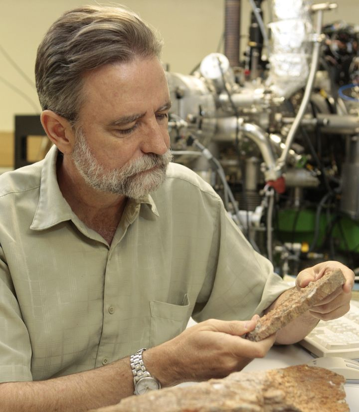 Mark Harrison, pictured, and other geologists discovered carbon that indicates life on Earth began 300 million years earlier