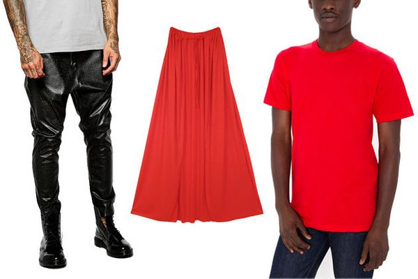 """Pants, <a href=""""http://us.asos.com/ASOS-Drop-Crotch-Joggers-In-Cracked-Faux-Leather/16uek3/?iid=5312430&amp;clr=Black&amp;Sea"""