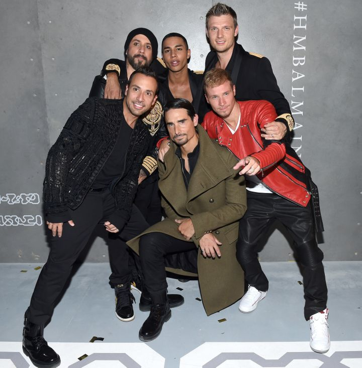 The Backstreet Boys and Olivier Roustein
