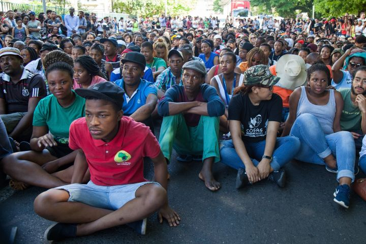 At least 14 universities around the country are taking part in the demonstrations and campuses have suspended classes.