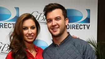 NEW YORK, NY - JANUARY 30:  Model Katherine Webb (L) and football player AJ McCarron attend DirecTV Beach Bowl 2014 at the Gansevoort Hotel on January 30, 2014 in New York City.  (Photo by Astrid Stawiarz/Getty Images for DirecTV)