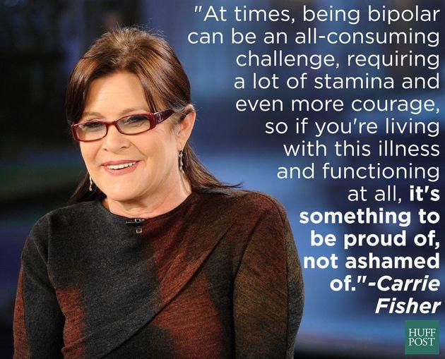 Carrie Fisher ingin menghilangkan stigma dari kesehatan mental. (Sumber: Huffington Post)