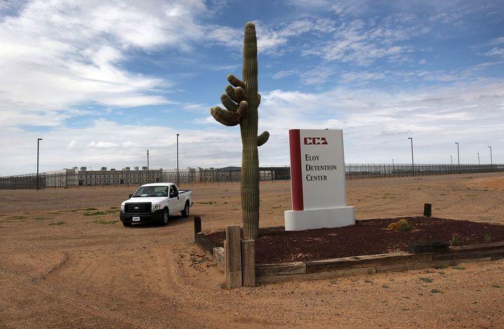 Eloy Detention Center in Arizona, pictured here,is where transgender inmateTanya Guzman-Martinez said she was sex