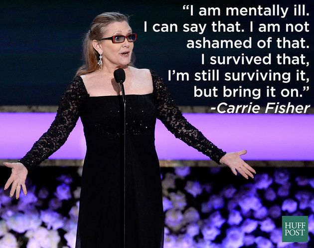 Carrie Fisher selalu bicara vokal tentang kesehatan mental.(Sumber: Huffington Post)