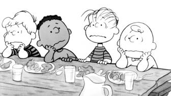 Charlie Brown and his buddies look disappointed in a scene from the film 'Race For Your Life, Charlie Brown', 1977. (Photo by Paramount/Getty Images