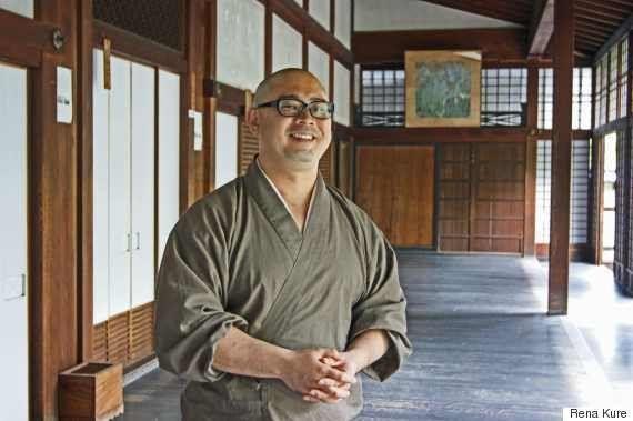 Deputy Head Priest Zenryu Kawakami at Shunkoin temple in Kyoto, Japan.