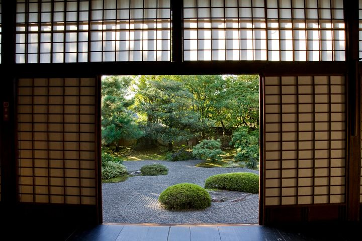 A view of a garden at Shunkoin. The temple dates back to the 16th century and was one of the most important places for Z