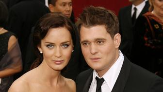 Emily Blunt and Michael Buble during The 79th Annual Academy Awards - Arrivals at Kodak Theatre in Los Angeles, California, United States. (Photo by Lester Cohen/WireImage)