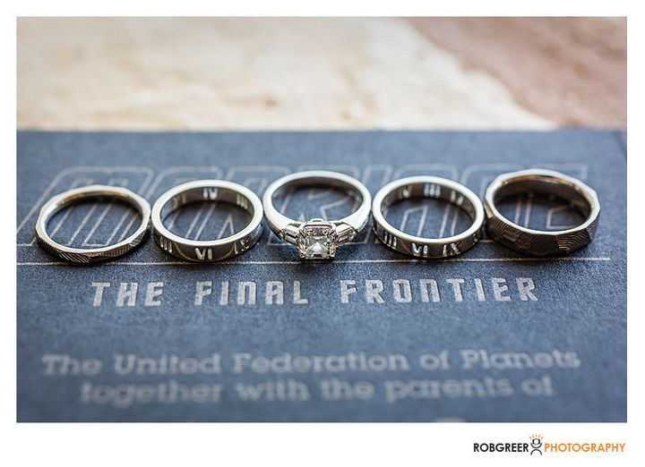 this is what it looks like when a star wars nerd marries a star trek geek huffpost - Star Trek Wedding Ring