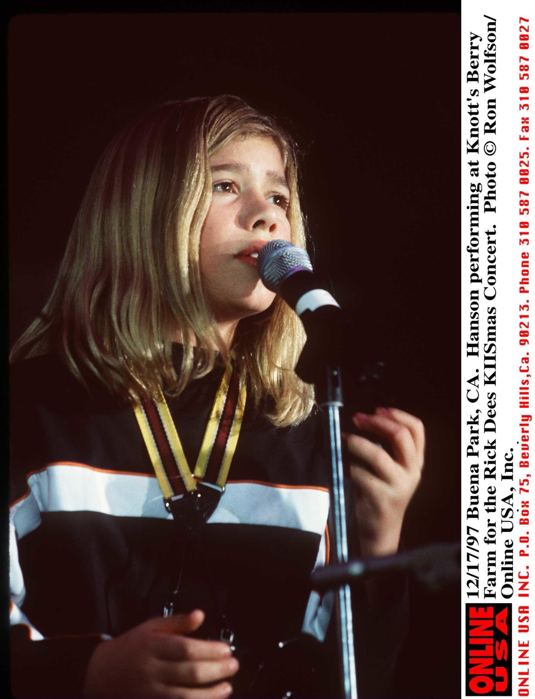 12/17/97 Buena Park, CA. Hanson performing at Knotts Berry Farm for the Rick Dees KIISmas Concert. Zachary Hanson.